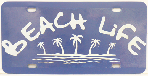 Beach Life License Plate Plaque